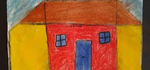 Besonders berührt hat mich das Bild eines Hauses mit dem Wort 'Willkomen' über der Türe.